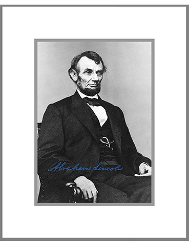 "8""x 10"" Abraham Lincoln Matted Print"