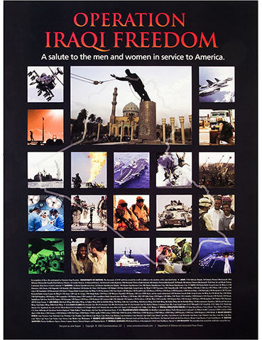 "18""x 24""Operation Iraqi Freedom Poster Print"