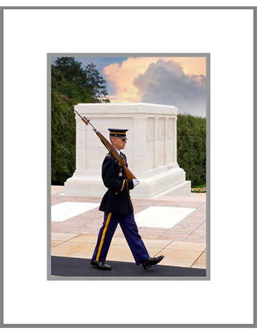 "8""x 10"" Arlington Cemetery Matted Print"