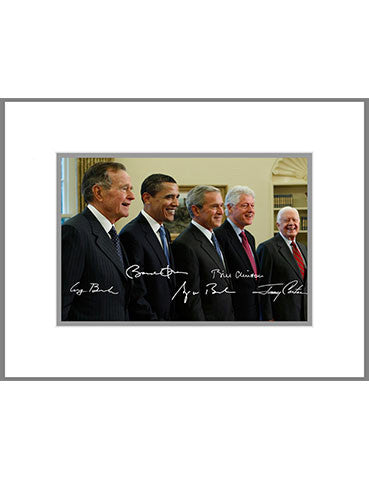 "8""x 10"" Five Presidents Matted Print"