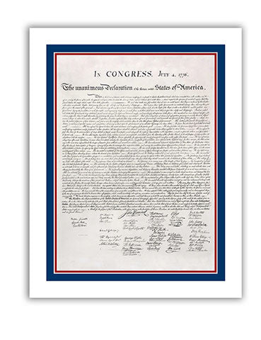 "11""x 14"" Declaration of Independence Print"