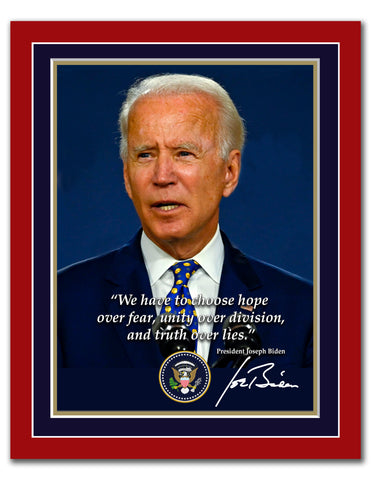 "8"" x 10"" Joe Biden Quotation Print"