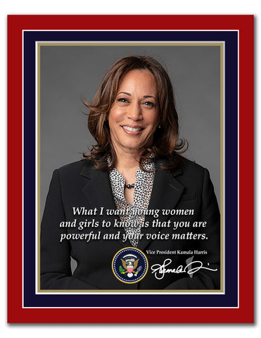 8' x 10' Kamala Harris Quotation Print