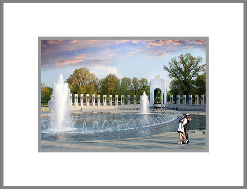 "8""x 10"" WWII Memorial Matted Print"