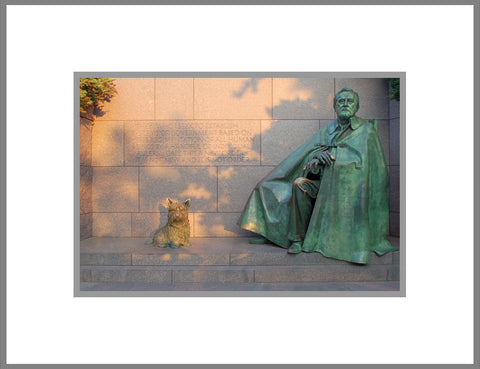 "8""x 10"" Franklin D. Roosevelt Memorial Matted Print"