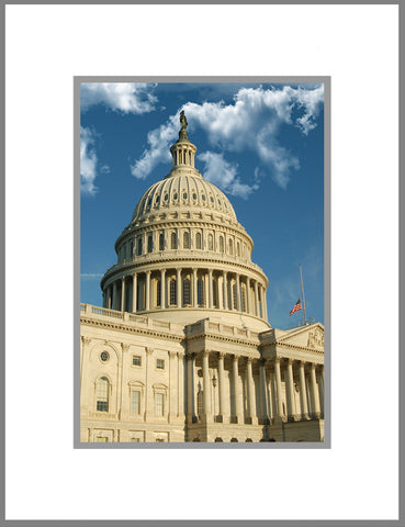 "8""x 10"" US Capitol Matted Print"