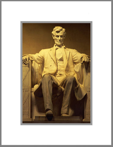 "8""x 10"" Lincoln Memorial Matted Print"