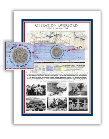"11""x 14"" D-Day Operation Overlord Matted Print"