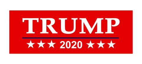 Bumper Sticker 6.25 X 2.25 Inches Diameter Donald Trump 2020