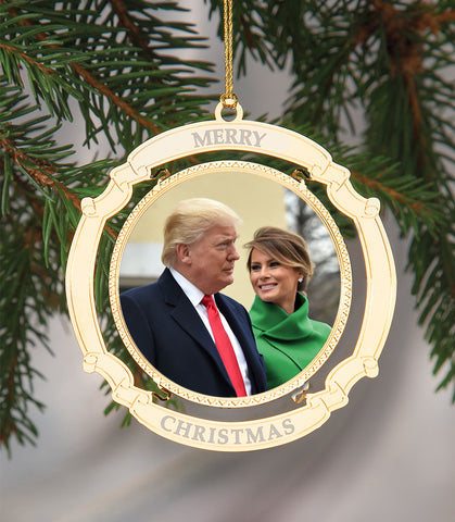 Holiday Ornament Donald and Melania Trump