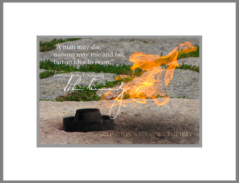 "8""x 10"" JFK Eternal Flame Arlington National Cemetery Matte Print"