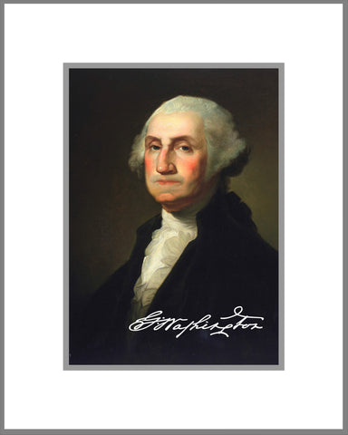 "8""x 10"" George Washington Matted Print"