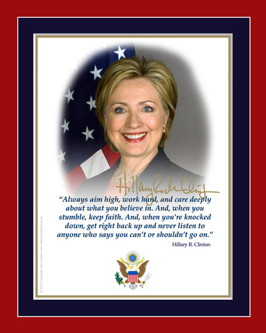 "8""x10"" Hillary Clinton Matted Print"