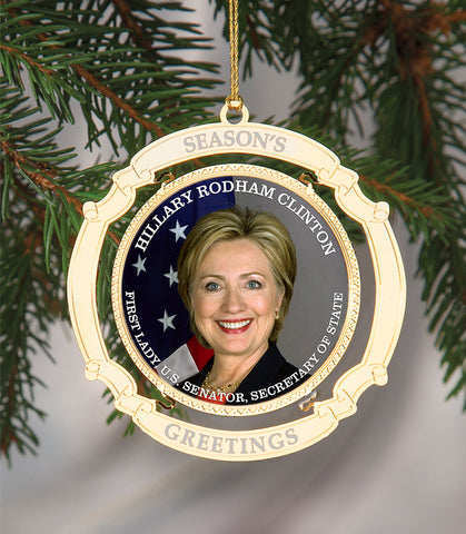 Holiday Ornament Hillary Clinton