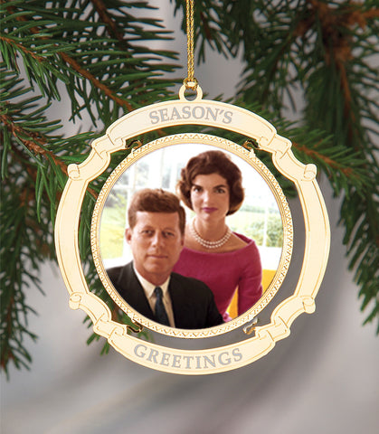 Holiday Ornament Jack and Jackie Kennedy