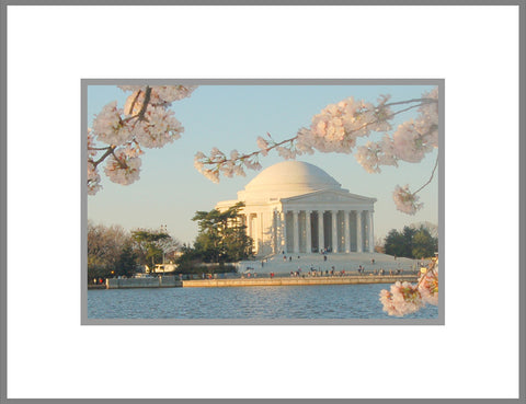"8""x 10"" Thomas Jefferson Memorial Matted Print"