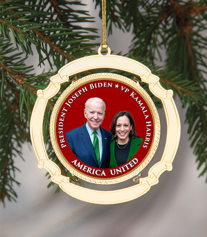 Commemorative Biden Harris 2020 Holiday Ornament