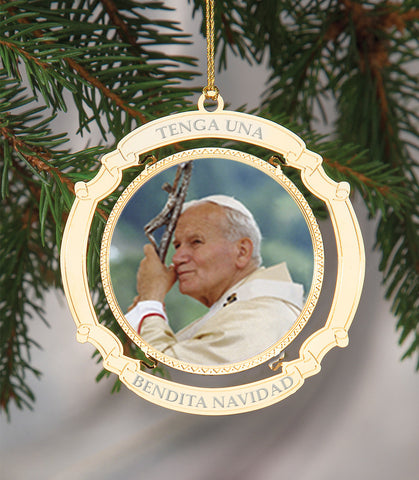 Holiday Ornament Saint John Paul II Spanish