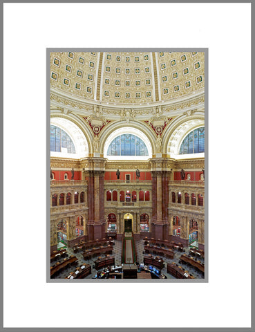 "8""x 10"" Library of Congress Matted Print"