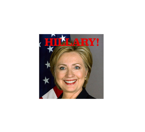 "1.5"" Square Hillary Clinton Lapel Pin"