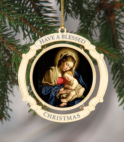 Holiday Ornament Madonna and Child