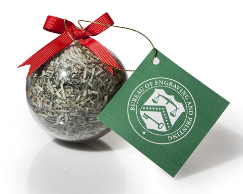 Holiday Ornament Shredded Money Ball