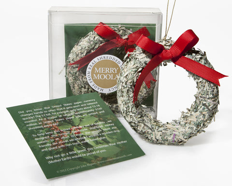 Holiday Ornament Shredded Money Wreath