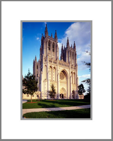 "8""x 10"" National Cathedral Day Matted Print"