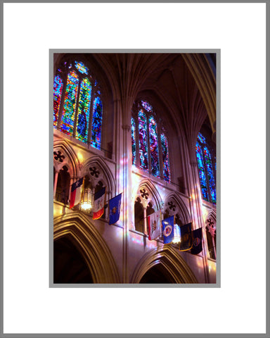 "8""x 10"" National Cathedral Interior Matted Print"