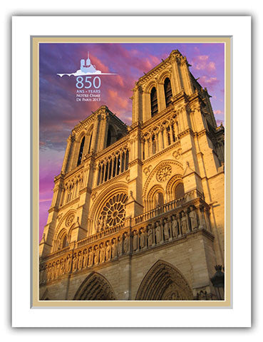 "11""x 14"" Notre Dame Cathedral Matted Print"