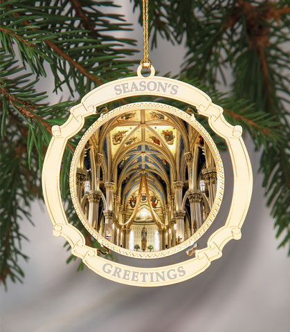 Holiday Ornament Notre Dame University Cathedral