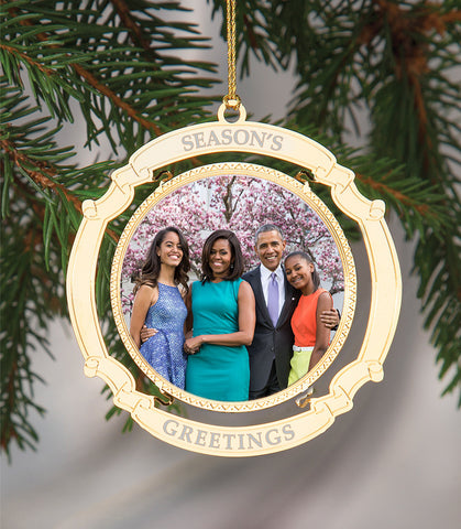 Holiday Ornament Obama Family