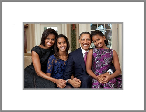 "8""x 10"" Obama Family Matted Print"