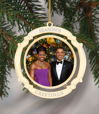 Holiday Ornament President Obama and his wife Michelle