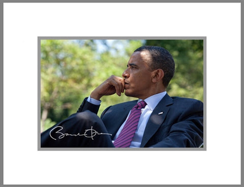"8""x 10"" Barack H. Obama Relaxing Matted Print"