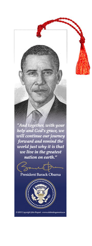 "President Barack Obama Bookmark ""God grace..."""