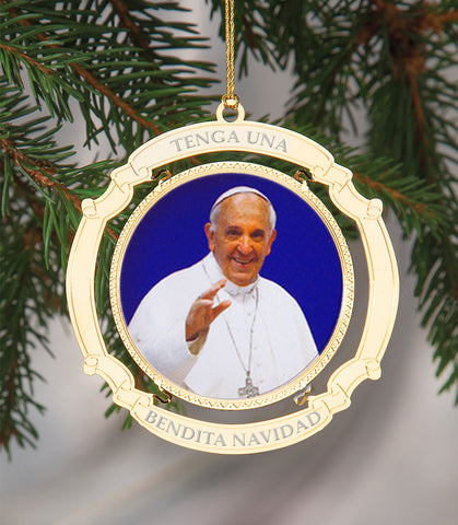 Holiday Ornament Pope Francis Spanish