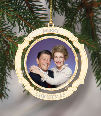 Holiday Ornament Ronald and Nancy Reagan