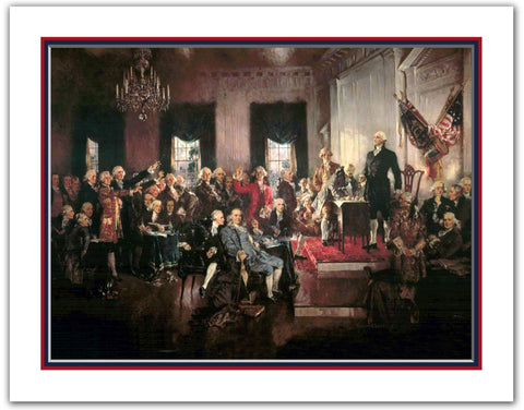 "11""x 14"" Scene at the Signing of the U.S. Constitution of the United States Print"