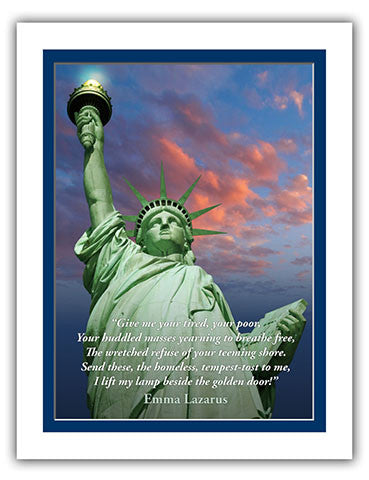 "11""x 14"" Statue of Liberty Matted Print"