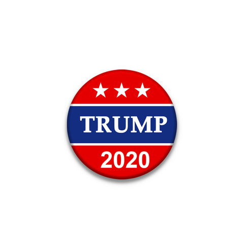 LAPEL PIN 1.5 inches Diameter Donald Trump 2020