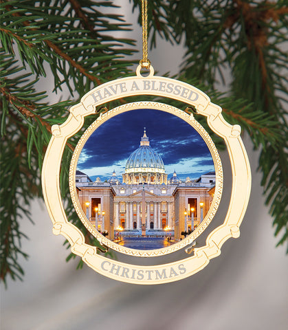 Holiday Ornament Saint Peter's Basilica in the Vatican
