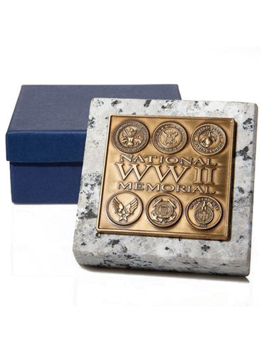 WWII Memorial Stone Paperweight