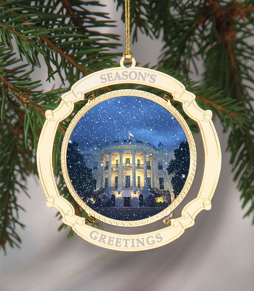 White House Christmas Ornament.White House Christmas Ornament