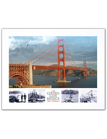 "11""x 14"" Golden Gate Bridge Print"