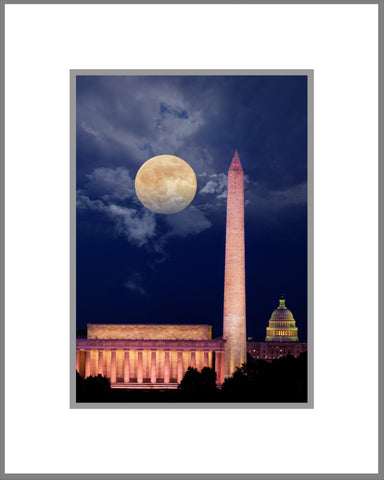 "8""x 10"" Nation's Capital Matted Print"
