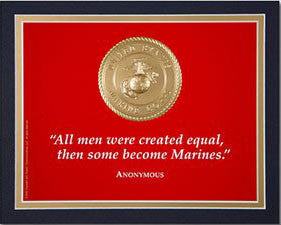 "8""x 10"" ""All men were created equal..."" Matted Print"