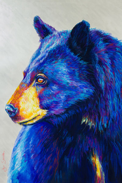 "Time-lapse video of ""Guardian Mother"" Black Bear painting for Art Spark Auction"