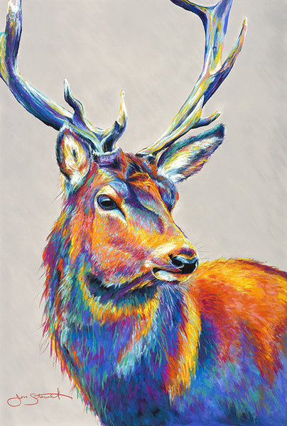 Deer Soft Pastel Painting