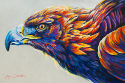 Golden Eagle Original Pastel